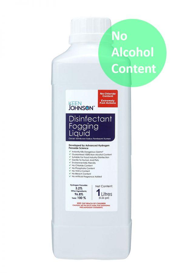 KEEN JOHNSON Disinfectant Fogging Liquid (1L) No Alcohol Content, Malaysia