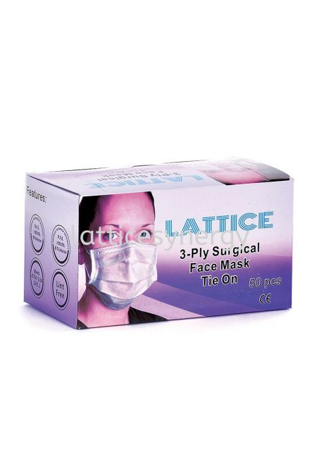 LATTICE 3-Ply Surgical Face Mask (Tie On)